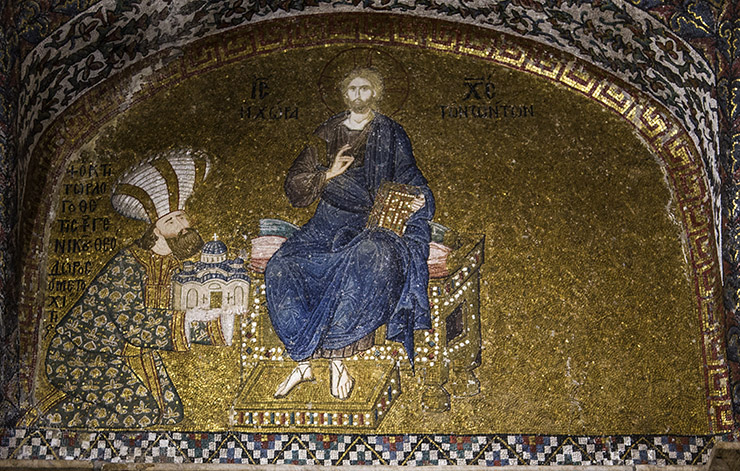 Christ Pantokrator Byzantine attire