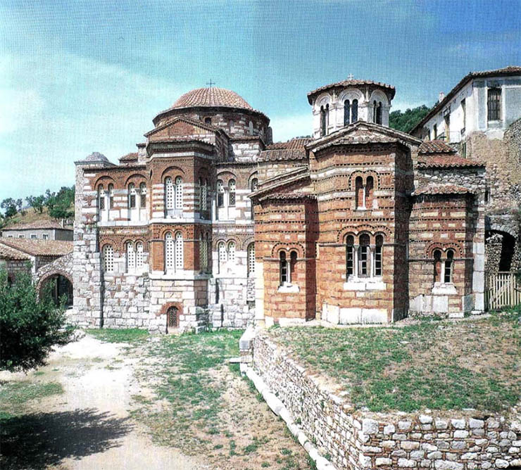 Apses of two churches Hosias Loukas