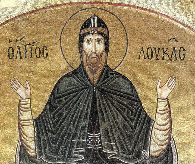 Byzantine Art - icon of Hosias Loukas
