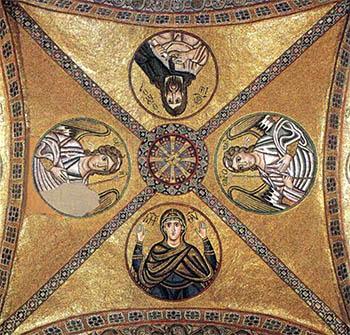 Vault with Byzantine Mosaics Hosias Loukas