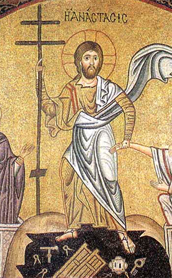 Mosaic of Christ in Hades - Hosias Loukas