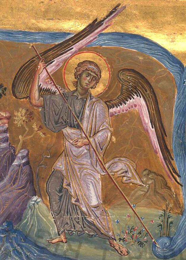 Close-up of Angel in Miracle at Chonai