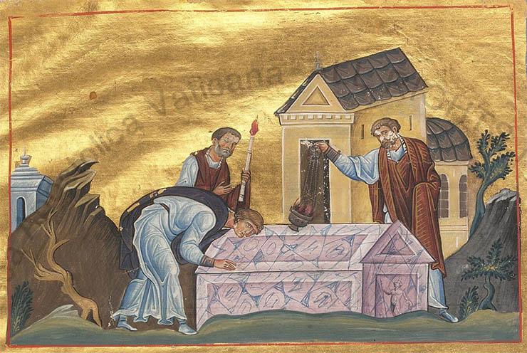 Byzantine art - Classical sculpture in Menologion