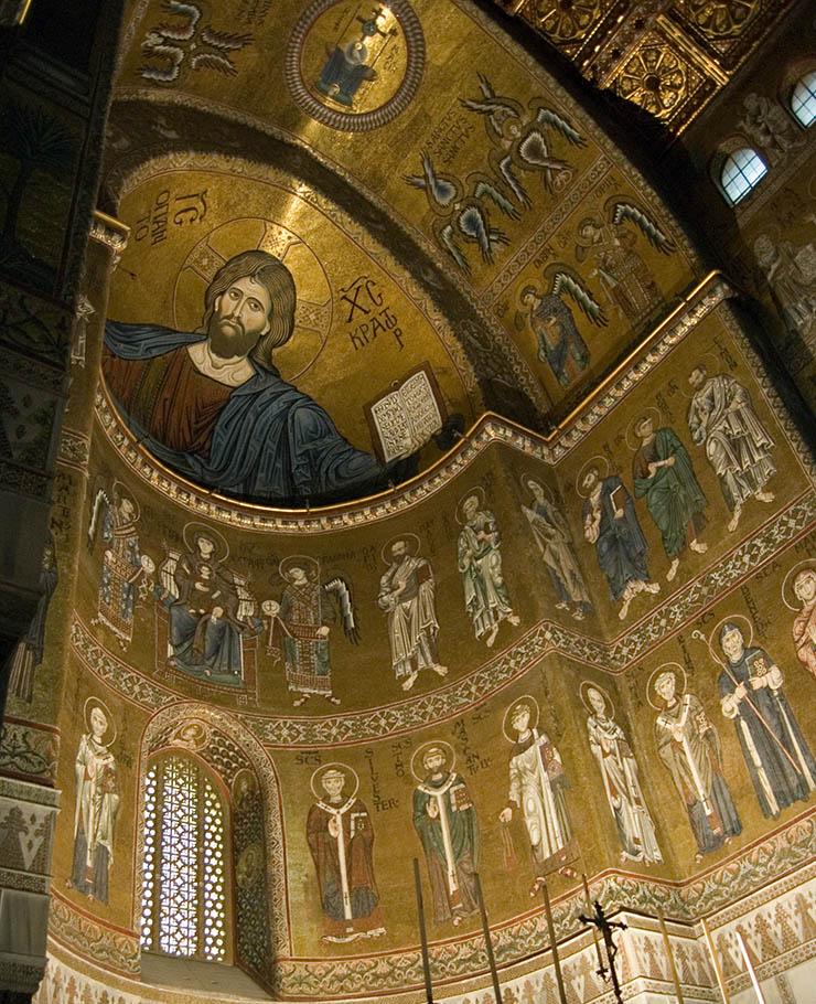 Apse mosaics of Monreale - Byzantine art