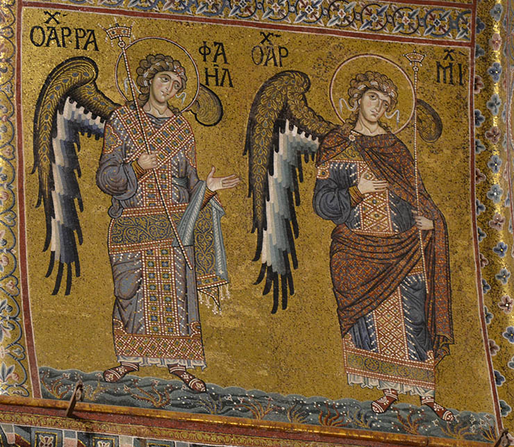 Two Byzantine angels from Monreale