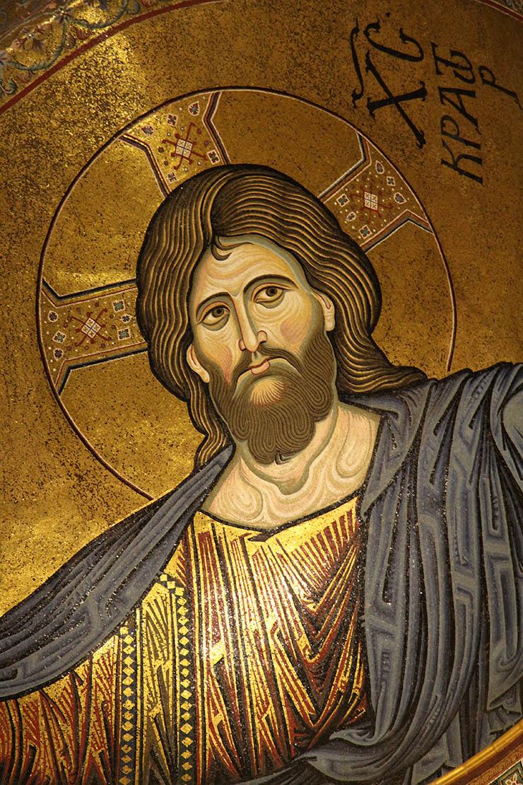 Norman Byzantine Mosaic of Christ