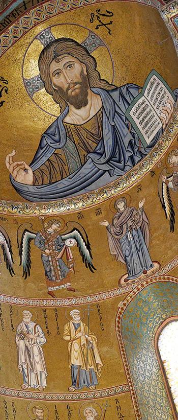 Christ of Cefalu - Byzantine Norman mosaic