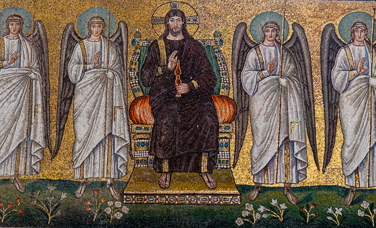 Angels with enthroned Christ in Ravenna