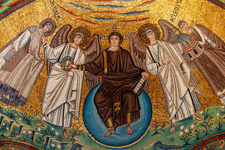 Christ with angels and saints in San Vitale