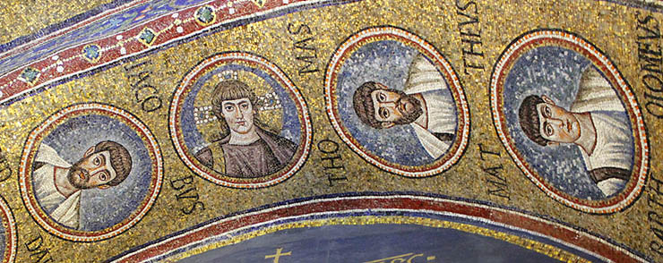 Another view of the arch mosaics