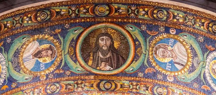 Byzantine mosaic of Christ Pantokrator