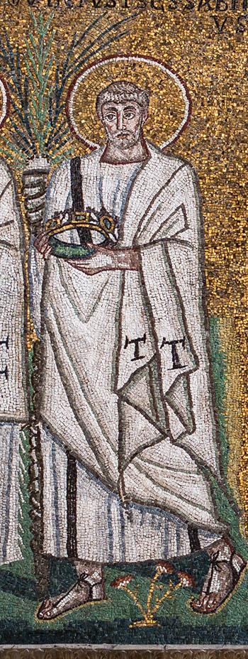 Byzantine saint mosaic