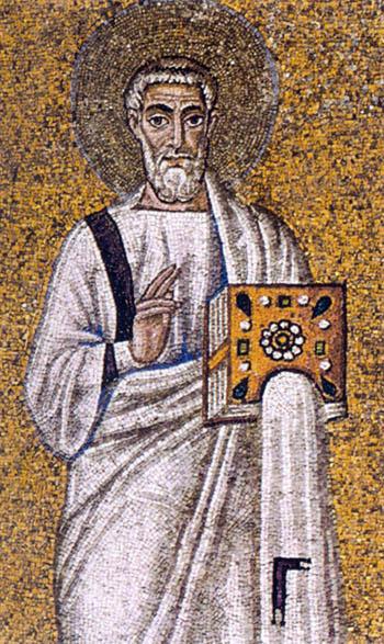 Mosaic saint in Ravenna