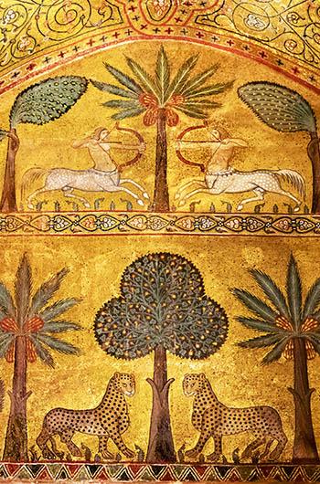 Byzantine palace art and mosaics