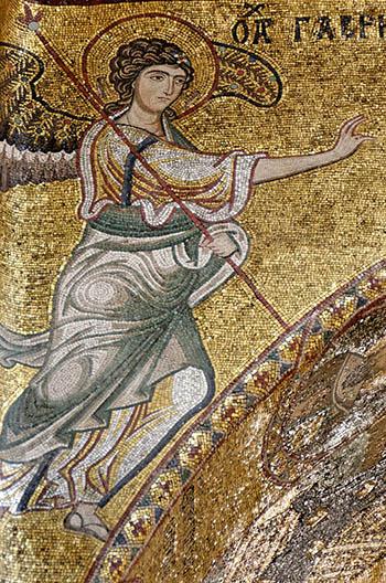 Angel Gabriel annunciation Cefalu