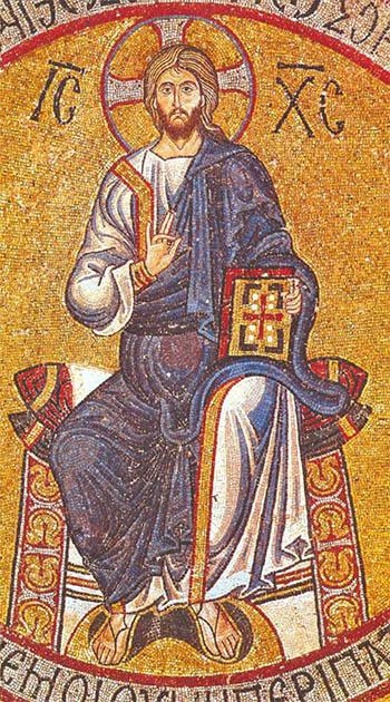 Christ Pantokrator - Byzantine mosaic