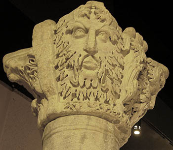 Byzantine Green Man - marble capital in Istanbul