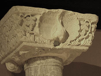 Byzantine Art - peacock capital in Istanbul