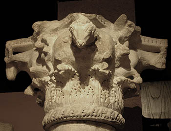 Byzantine Art - marble capital in Istanbul