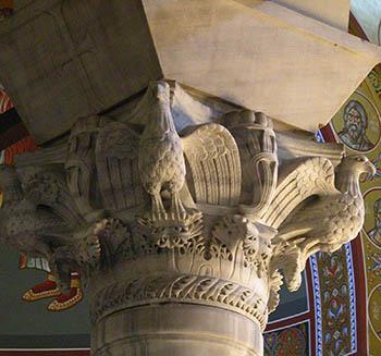 Byzantine Art - marble capital in Thessaloniki