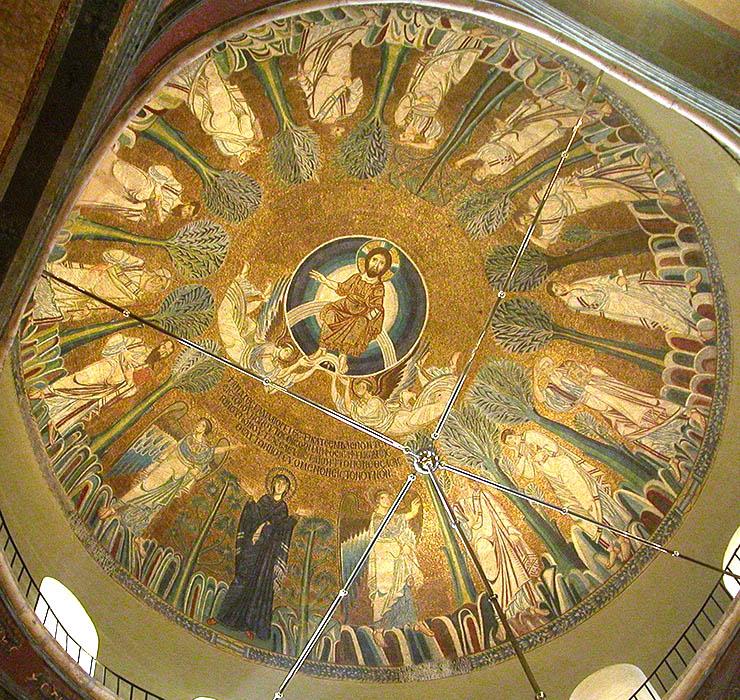 Byzantine Art - Dome Mosaics of Hagia Sophia