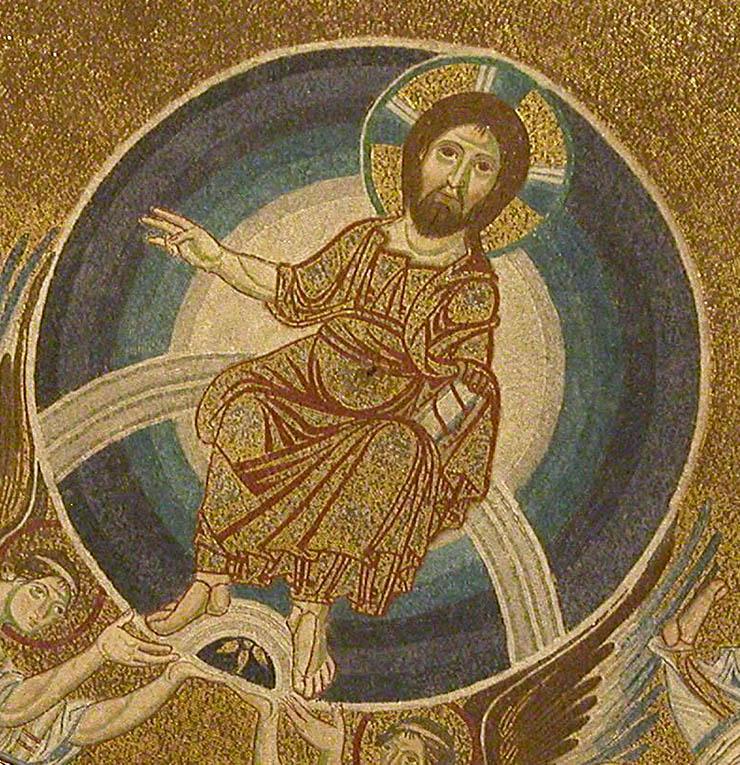 Christ feet held by angels Thessaloniki
