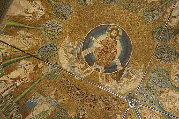 Christ in glory - dome of Hagia Sophia