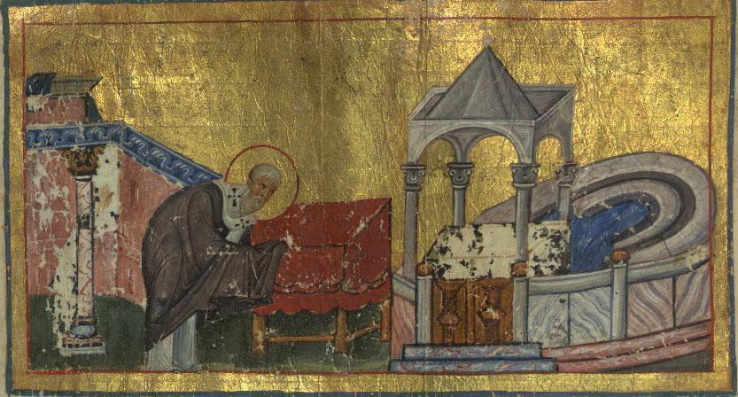 Walters Menologion Byzantine Miniature