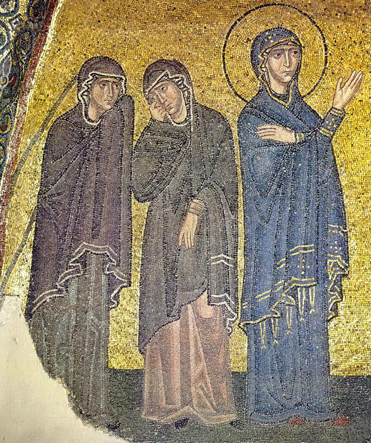 Byzantine Art - Mosaic of the Suffering of Mary