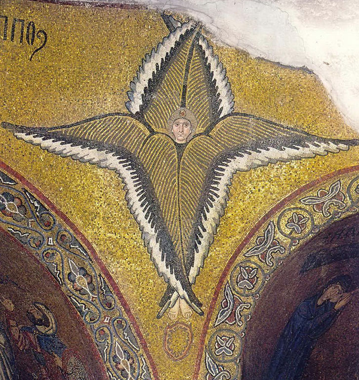 Seraphim - Byzantine Mosaic in Chios Church