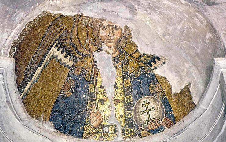 Byzantine Art - Mosaic of Archangel Gabriel Chios