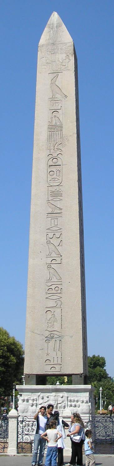 Obelisk in the Byzantine Hippodrome in Istanbul