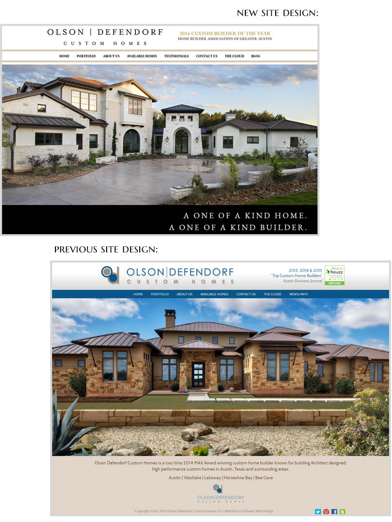 Austin Home Builder Website Redesign