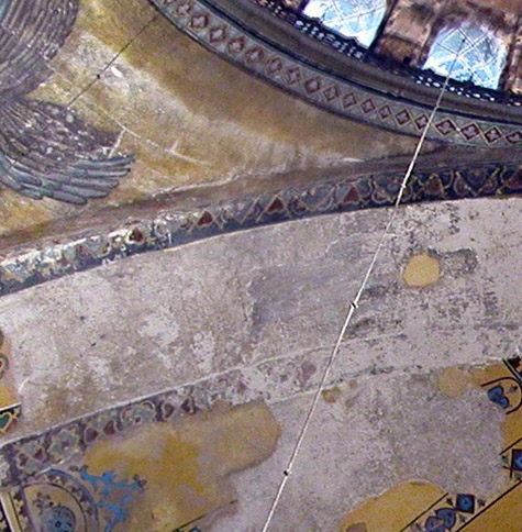 The Virgin Oranta in the Eastern Arch of Hagia Sophia