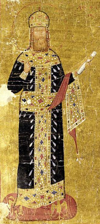 Andronikos II wearing the Loros