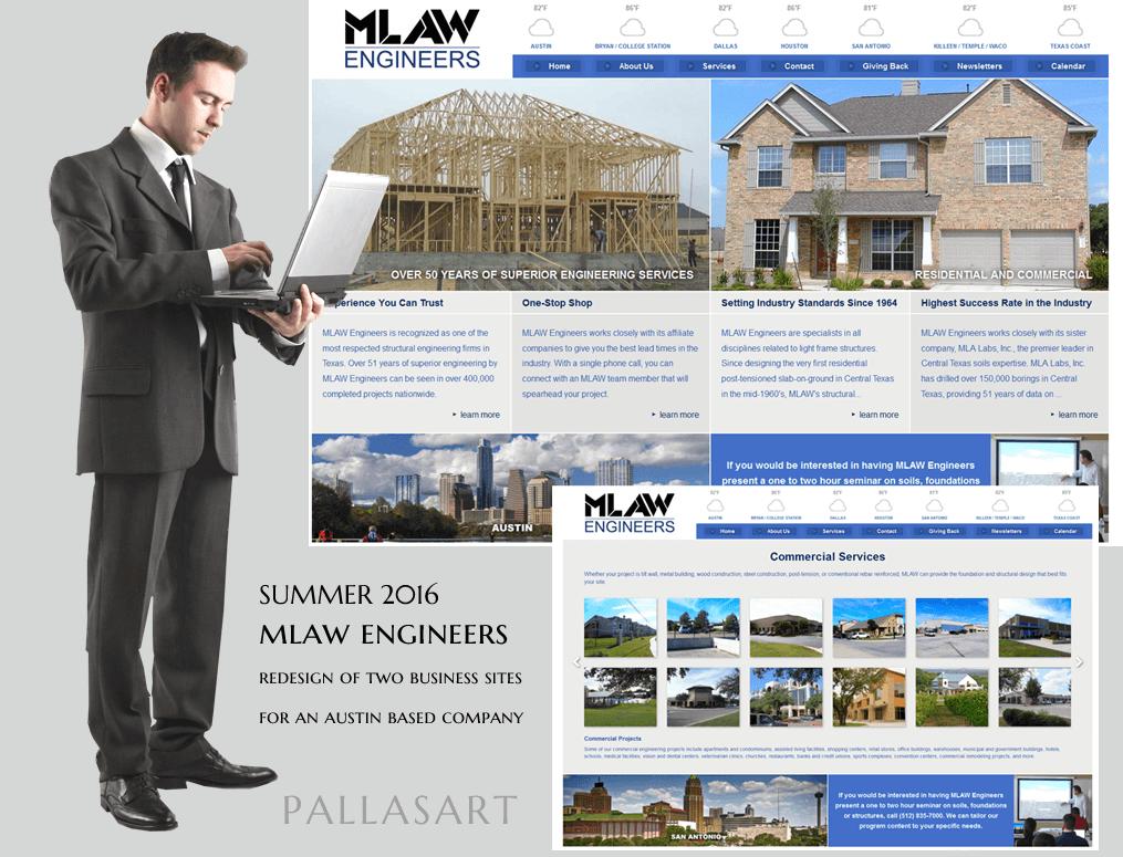 austin web design development company pallasart web design portfolio