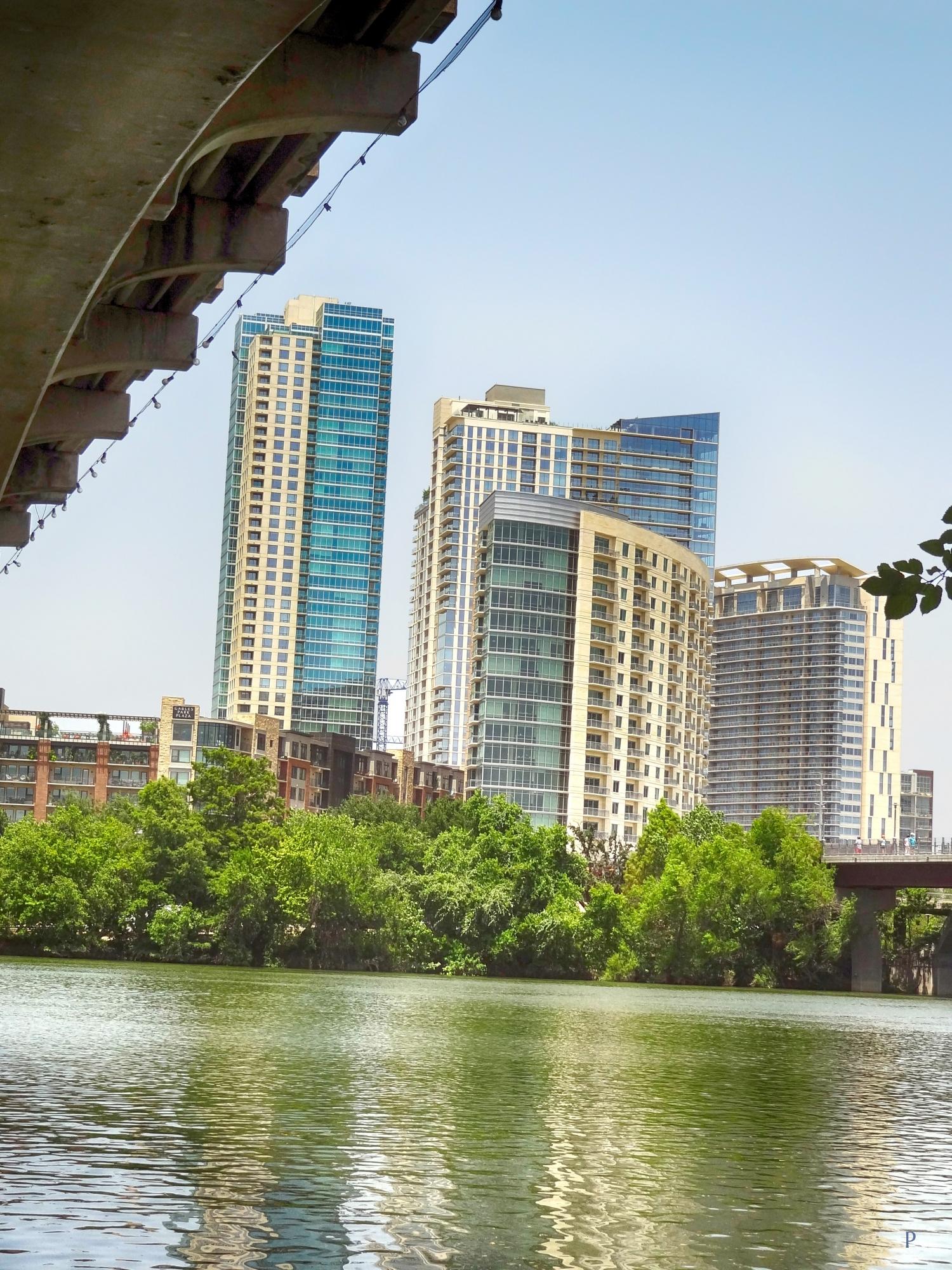 Under Lamar Bridge View Towards Gables Park Tower Free
