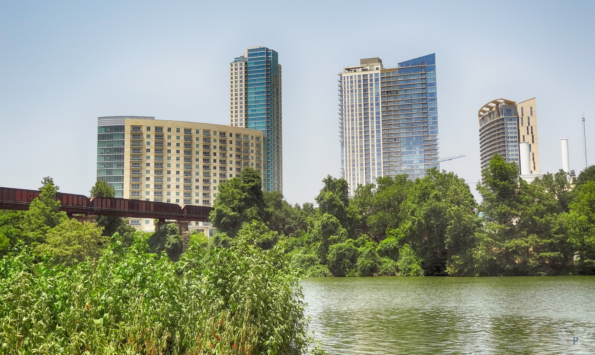 Town Lake Looking Towards Gables, The Spring, Bowie Residential Towers