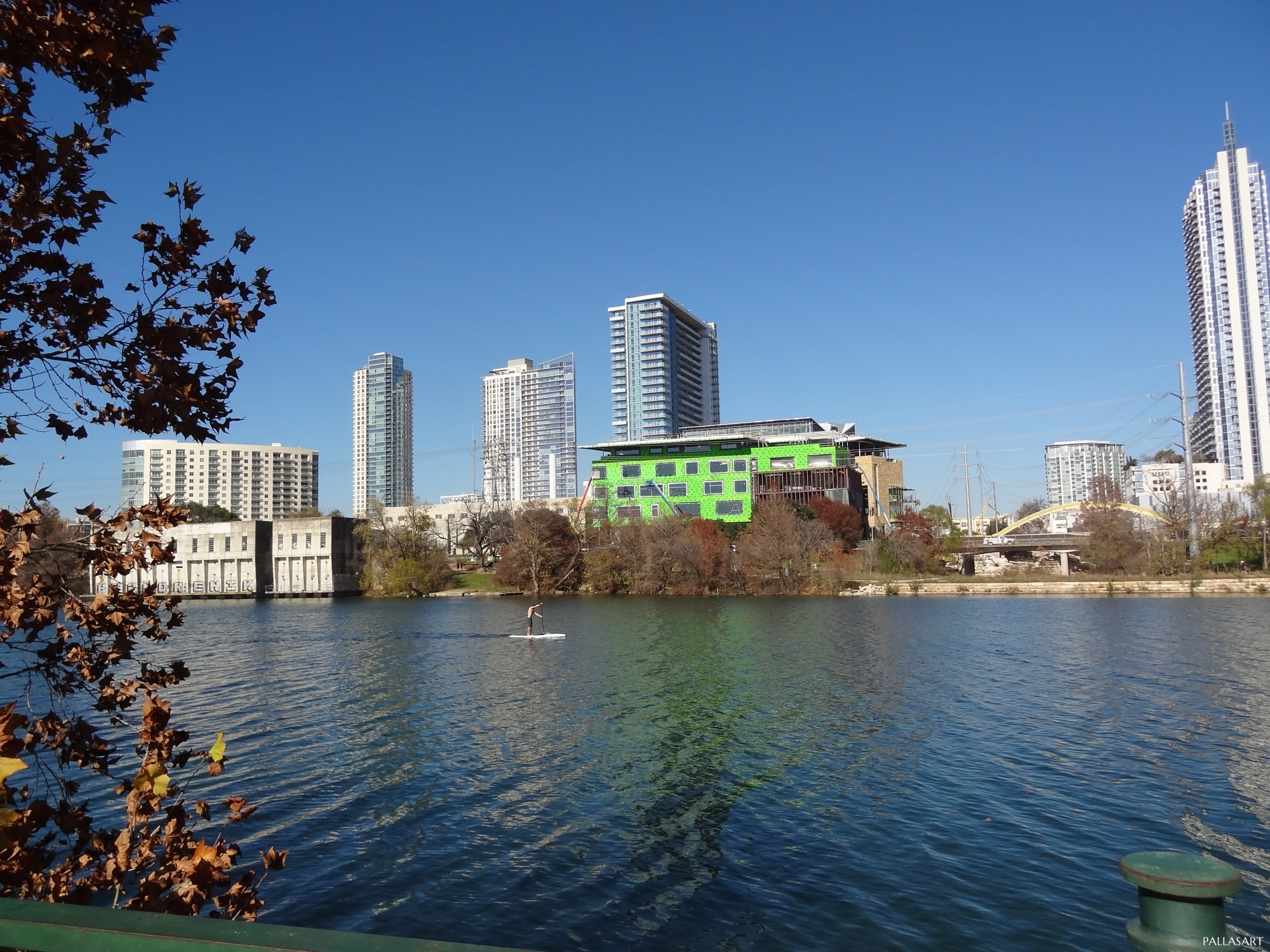 Austin Central Library Under Construction on Lady Bird Lake