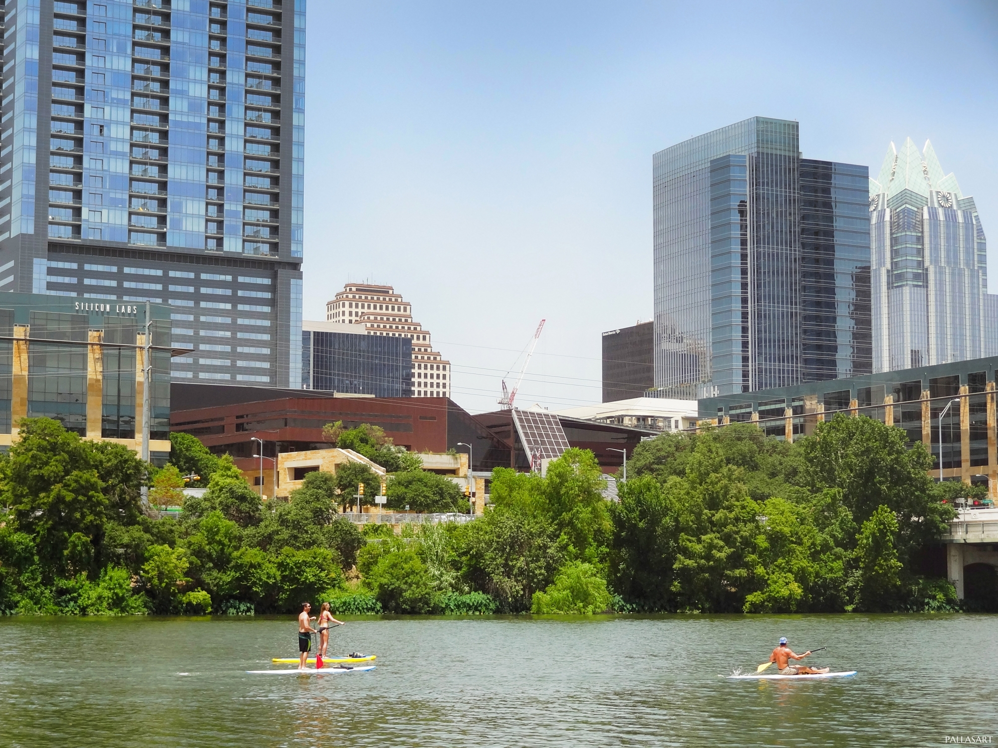 Austin City Hall and Lady Bird Lake