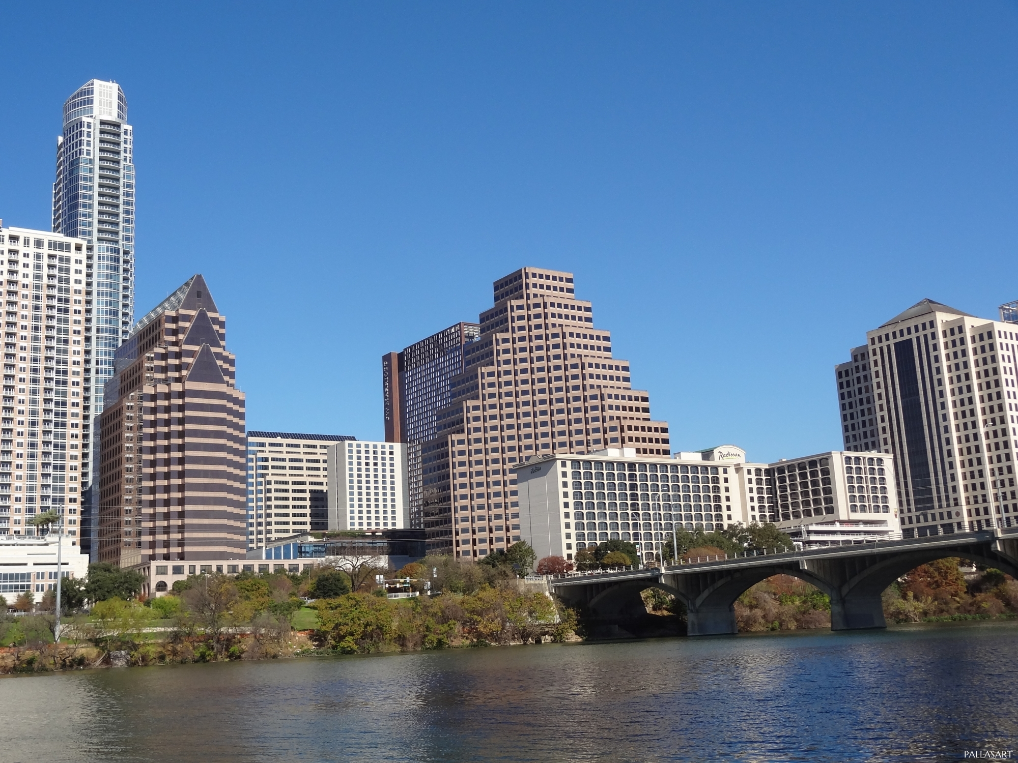 Congress Avenue Bridge and Austin Skyline