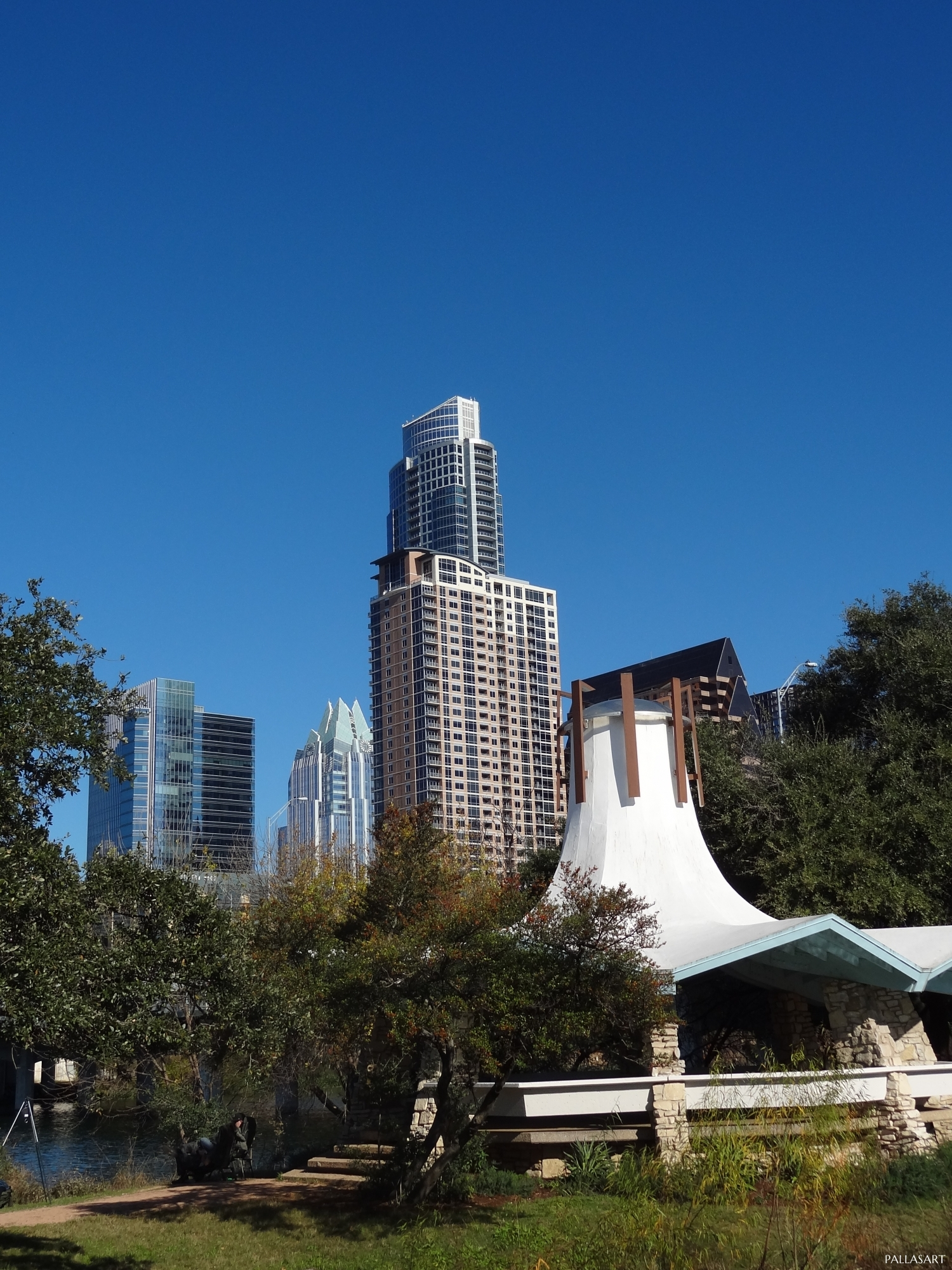 Downtown Austin from Auditorium Shoes Gazebo