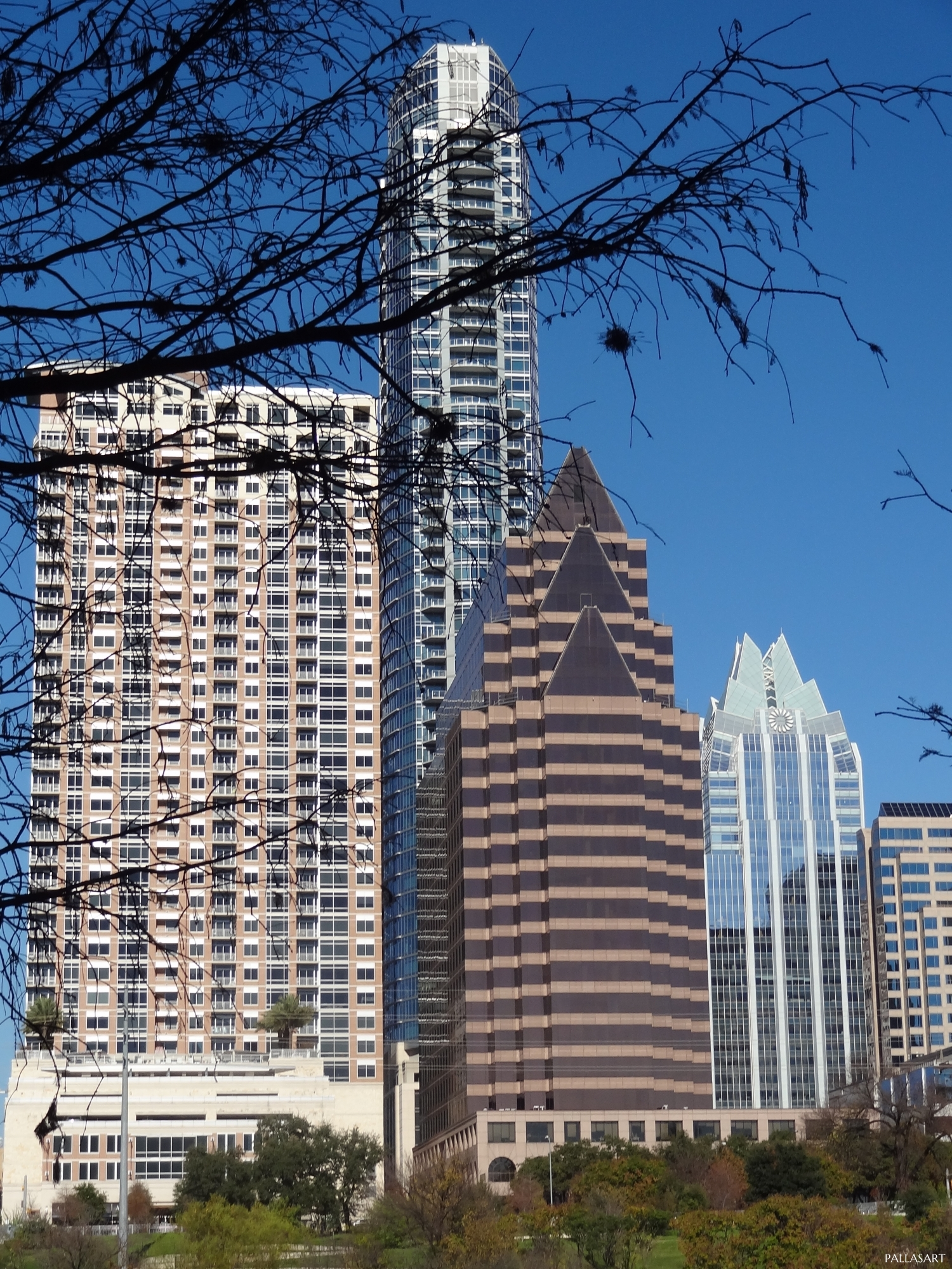 The Ashton, Austonian, 100 Congress Avenue, and Frost Bank Tower