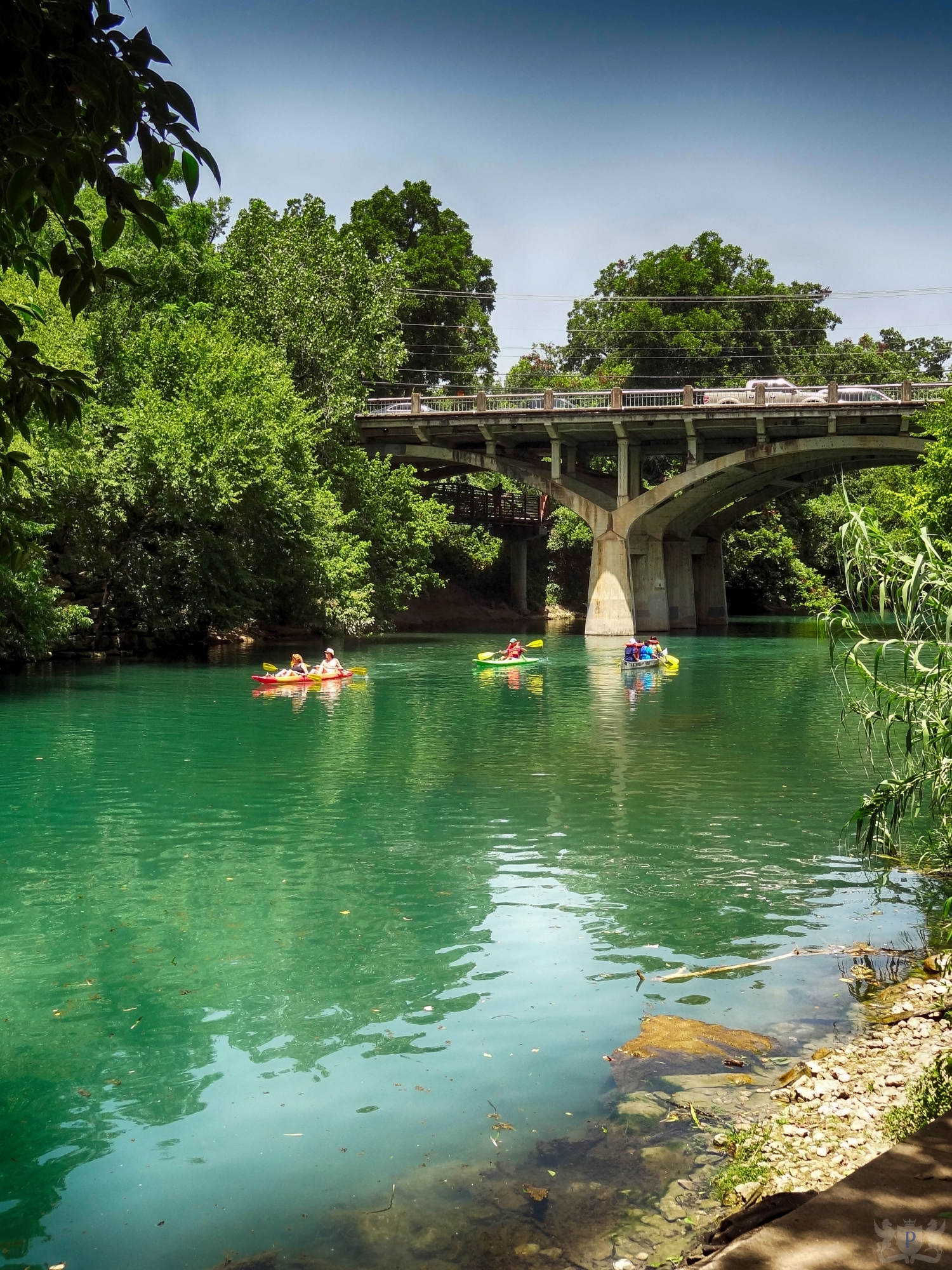 Kayaks on Barton Creek