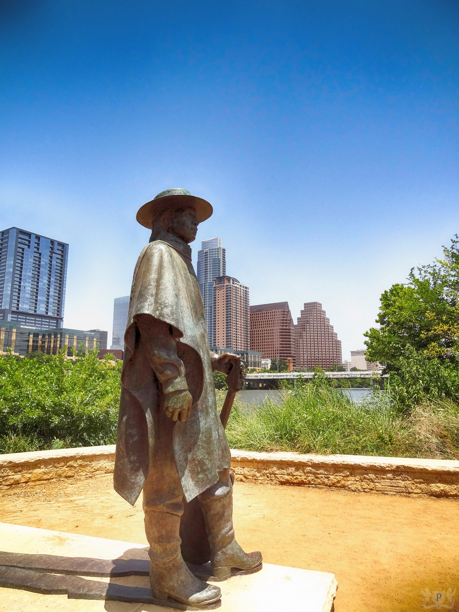 Stevie Ray Vaughan Statue on Town Lake