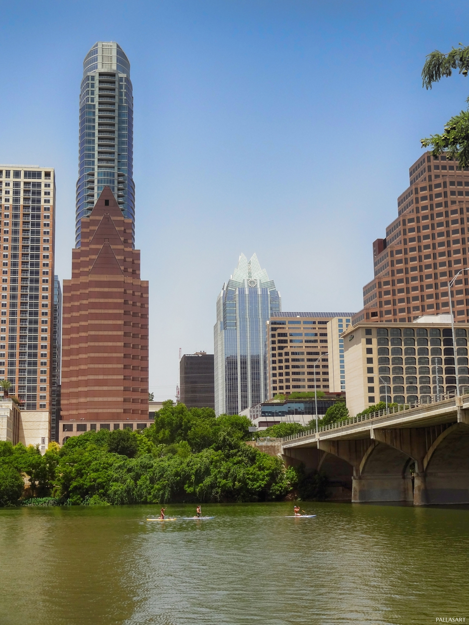 Paddleboarders on Lady Bird Lake