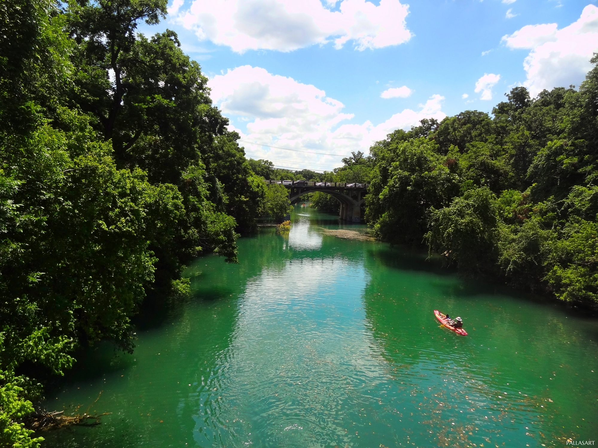 Single Kayak on Barton Creek