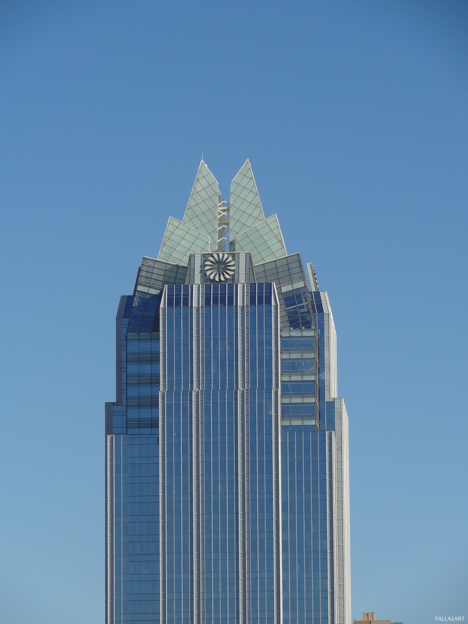 Full view of Frost Bank Tower in Austin, TX