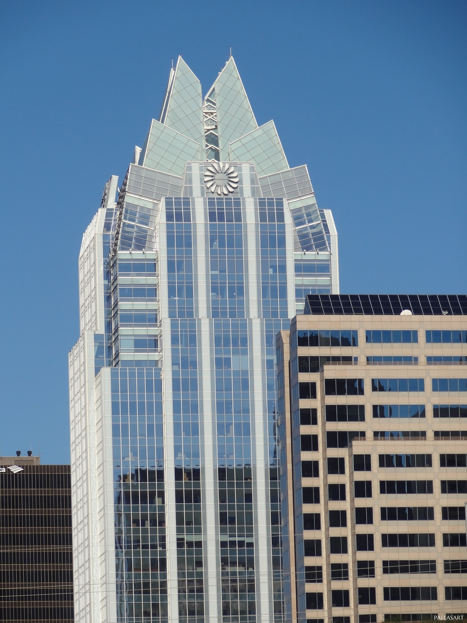 Frost Bank Tower in Austin, Texas from Congress Ave.