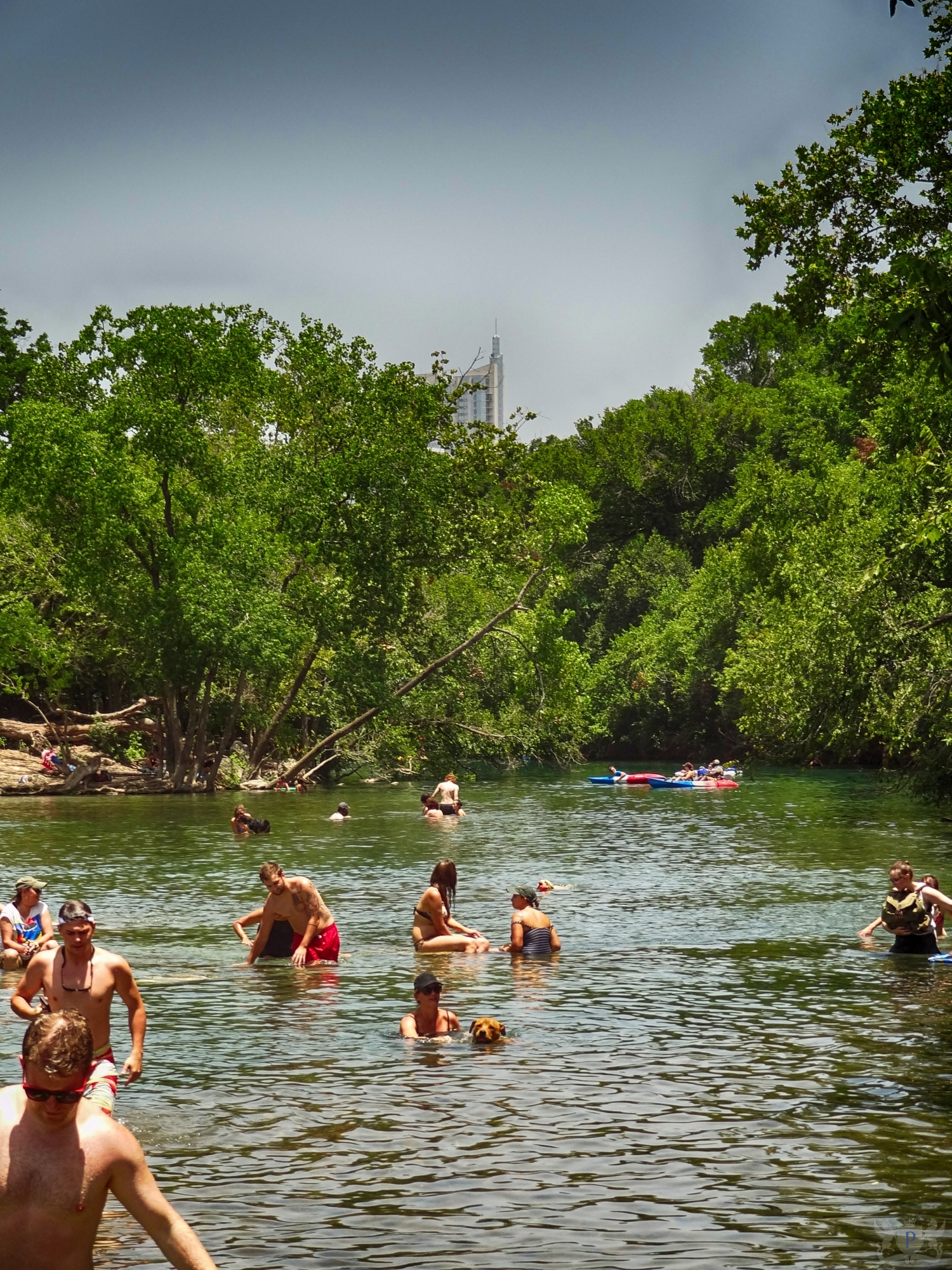 People Enjoying Barton Creek